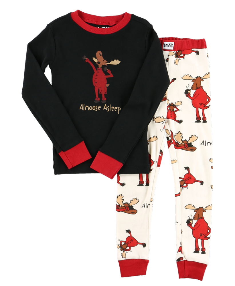 Almoose Asleep - Kids Long Sleeve PJ Set - Lazy One®